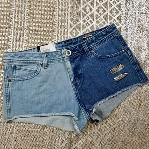 New Volcom High Waisted Jean Shorts